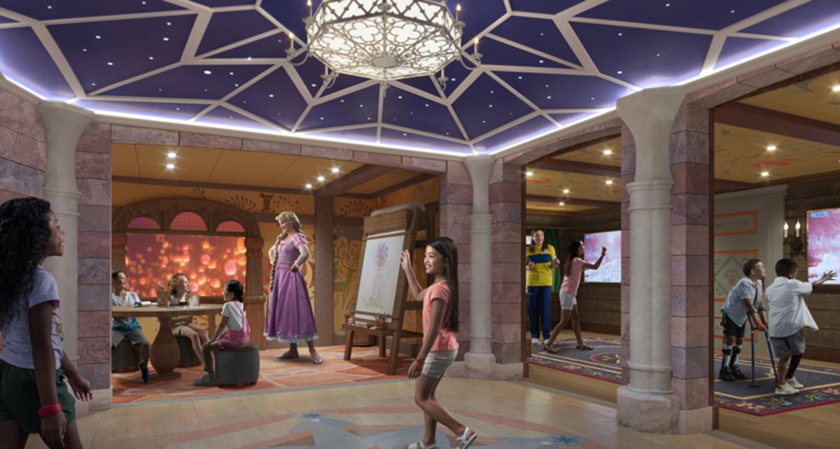 Fairytale Hall aboard the Disney Wish