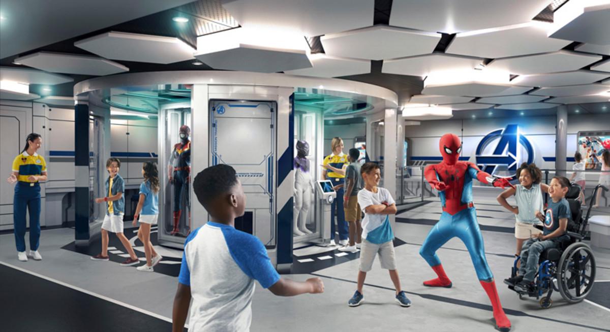 The Marvel Super Hero Academy aboard the Disney Wish