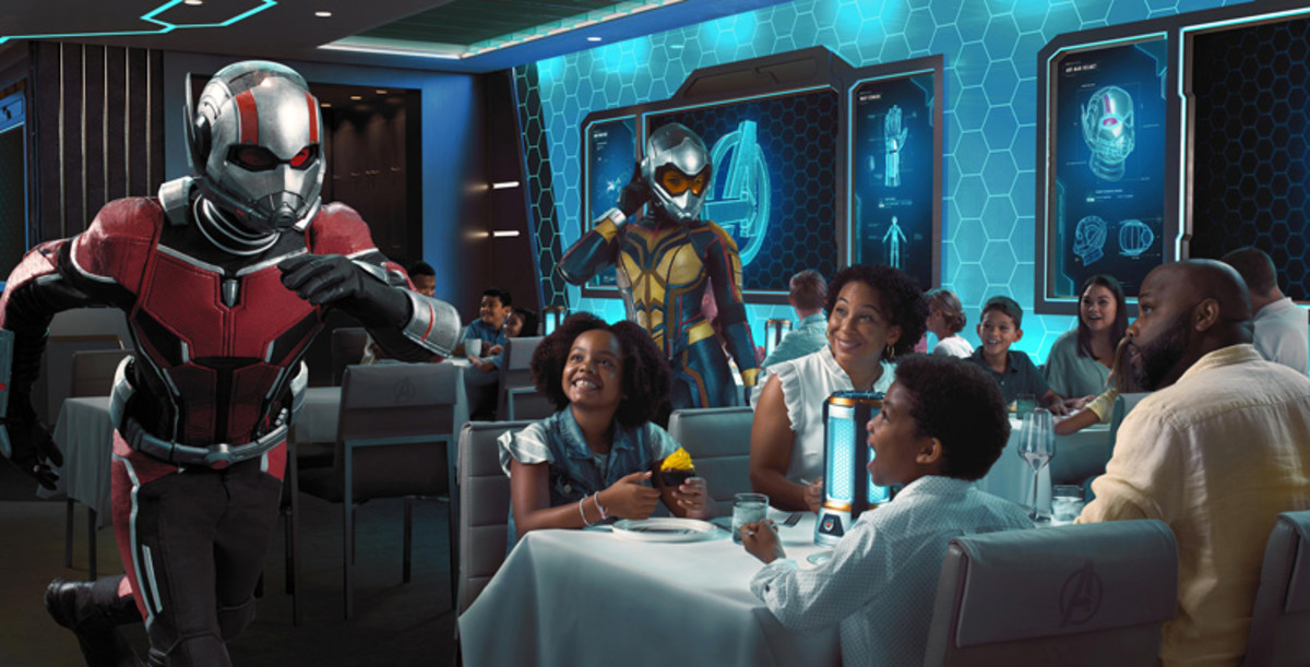 Worlds of Marvel aboard the Disney Wish