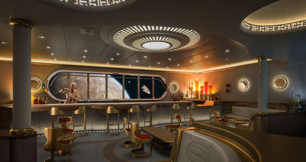 Star Wars: Hyperspace Lounge aboard the Disney Wish