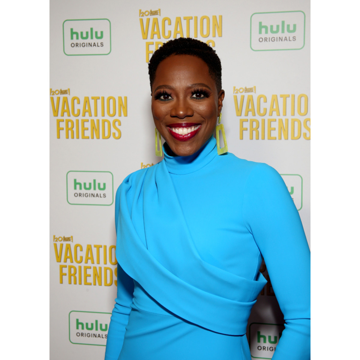 Yvonne Orji attends the Vacation Friends Special VIP Pool Party Screening at The Hollywood Roosevelt on August 23, 2021 in Los Angeles.