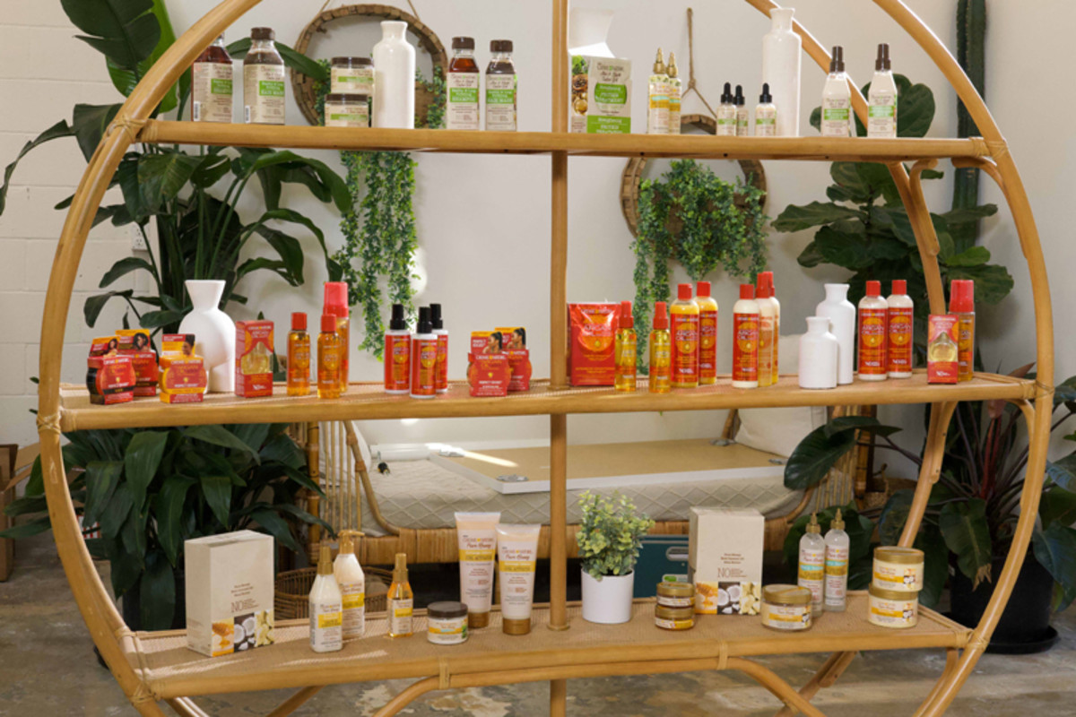 Creme of Nature products, including the Creme of Nature with Argan Oil from Morocco collection in its newly-redesigned packaging.