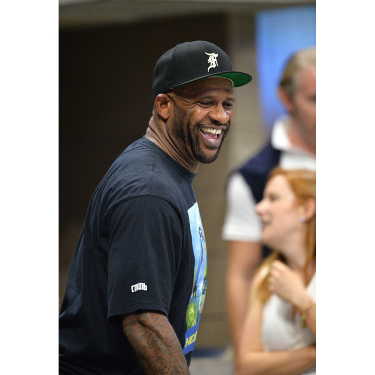 CC Sabathia watches the 2021 US Open from the Grey Goose suite