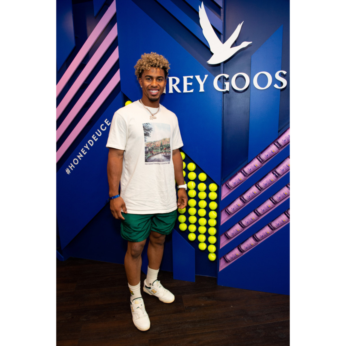 New York Mets player Francisco Lindor watches the 2021 US Open from the Grey Goose suite on August 30th.