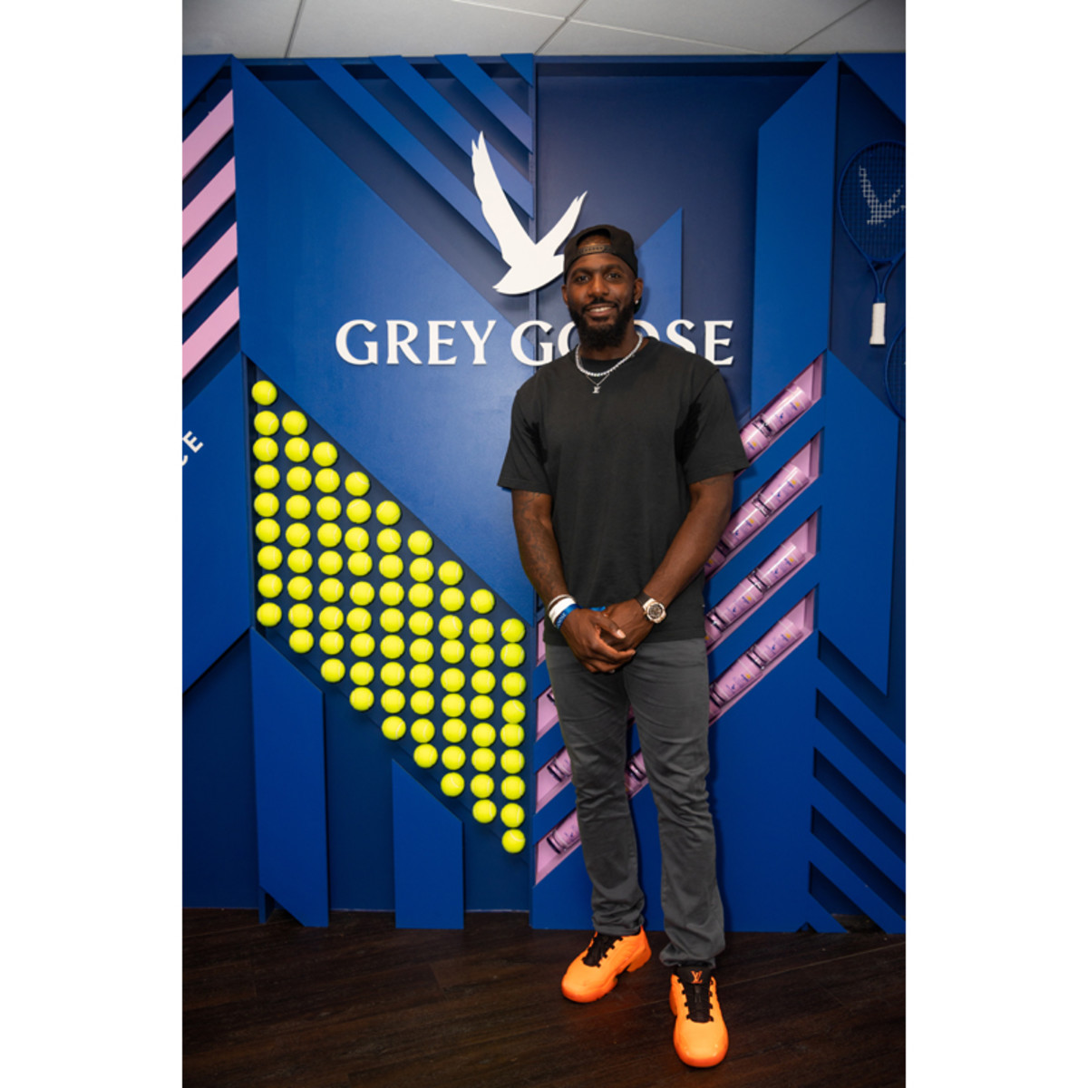 Dez Bryant at the Grey Goose suite at the 2021 US Open