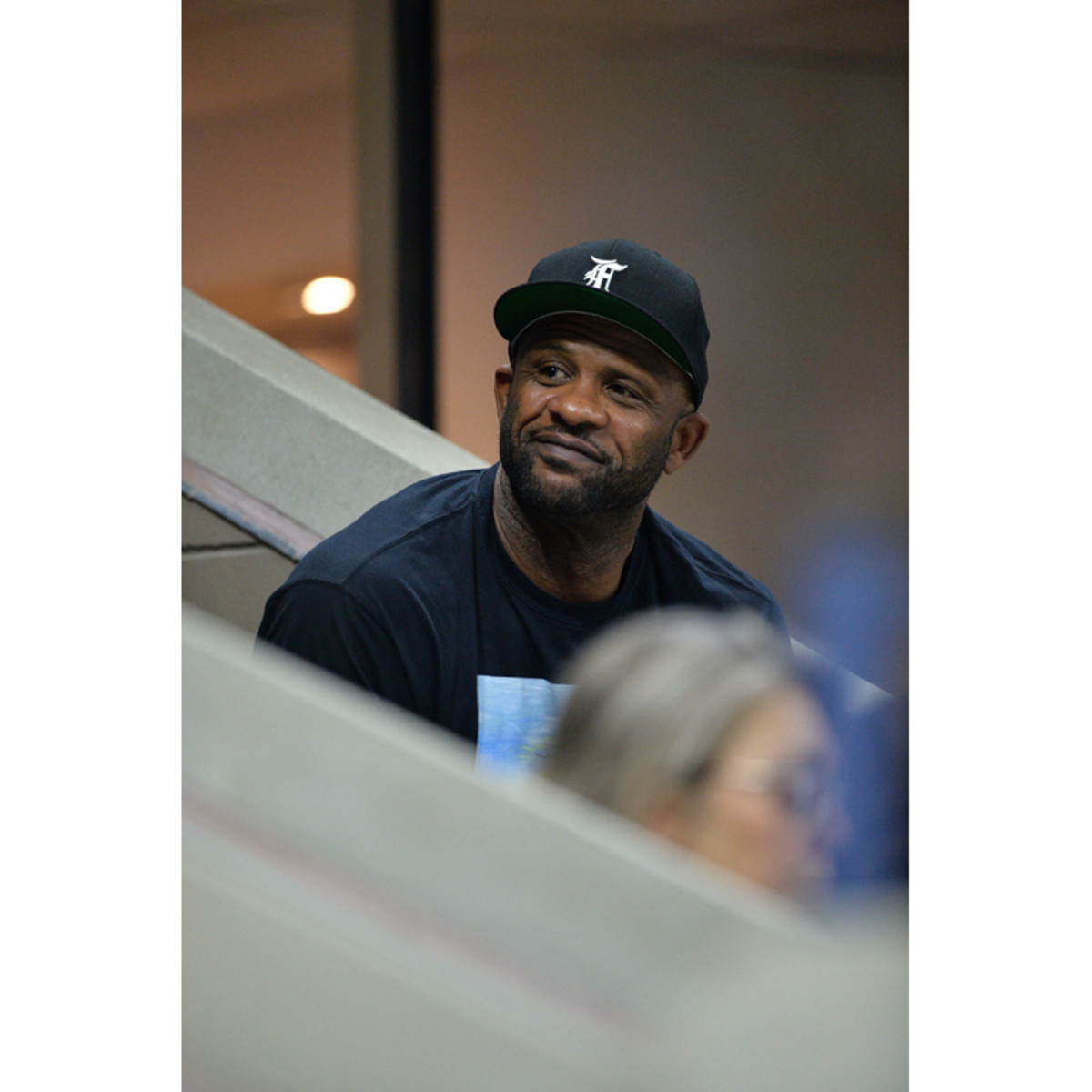 Former Yankees pitcher CC Sabathia watches the 2021 US Open from the Grey Goose suite on Wednesday, September 1st.