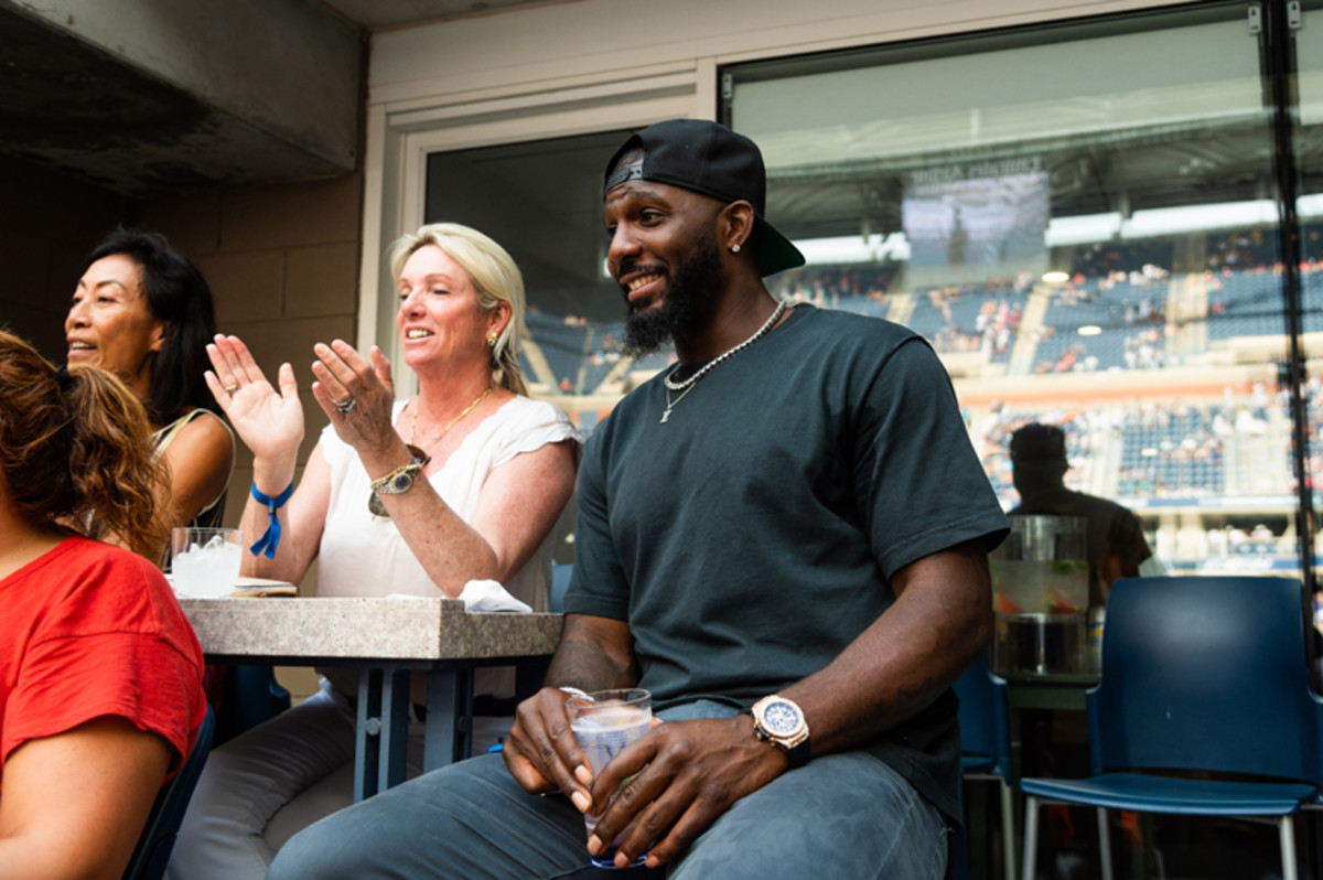 Former Dallas Cowboys Wide Receiver Dez Bryant watches the 2021 US Open from the Grey Goose suite on August 31st.