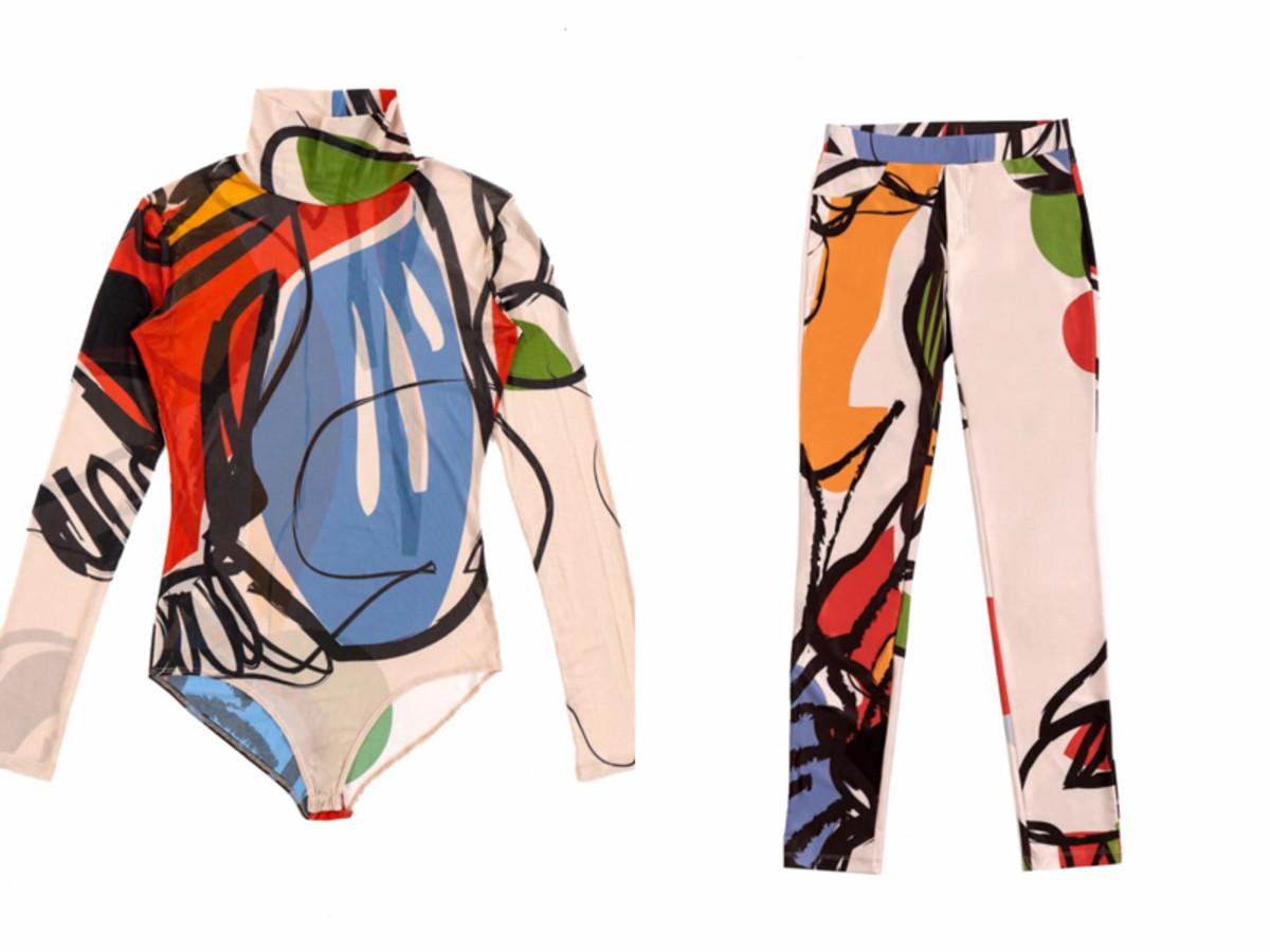 Confetti Mona Mesh Bodysuit and Pants