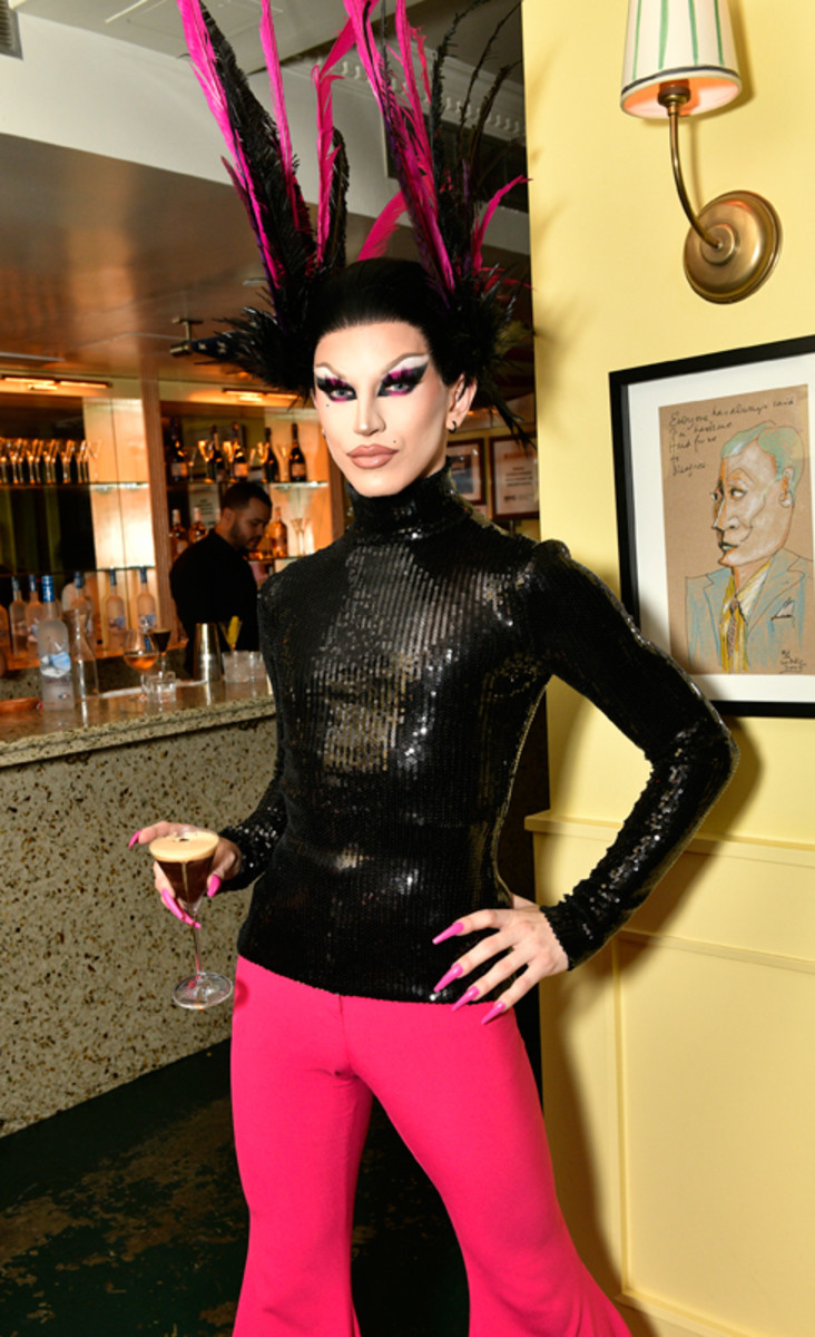 Aquaria enjoys a martini at Prabal Gurung's Spring 2022 collection private after-show dinner with Grey Goose vodka on September 8, 2021.