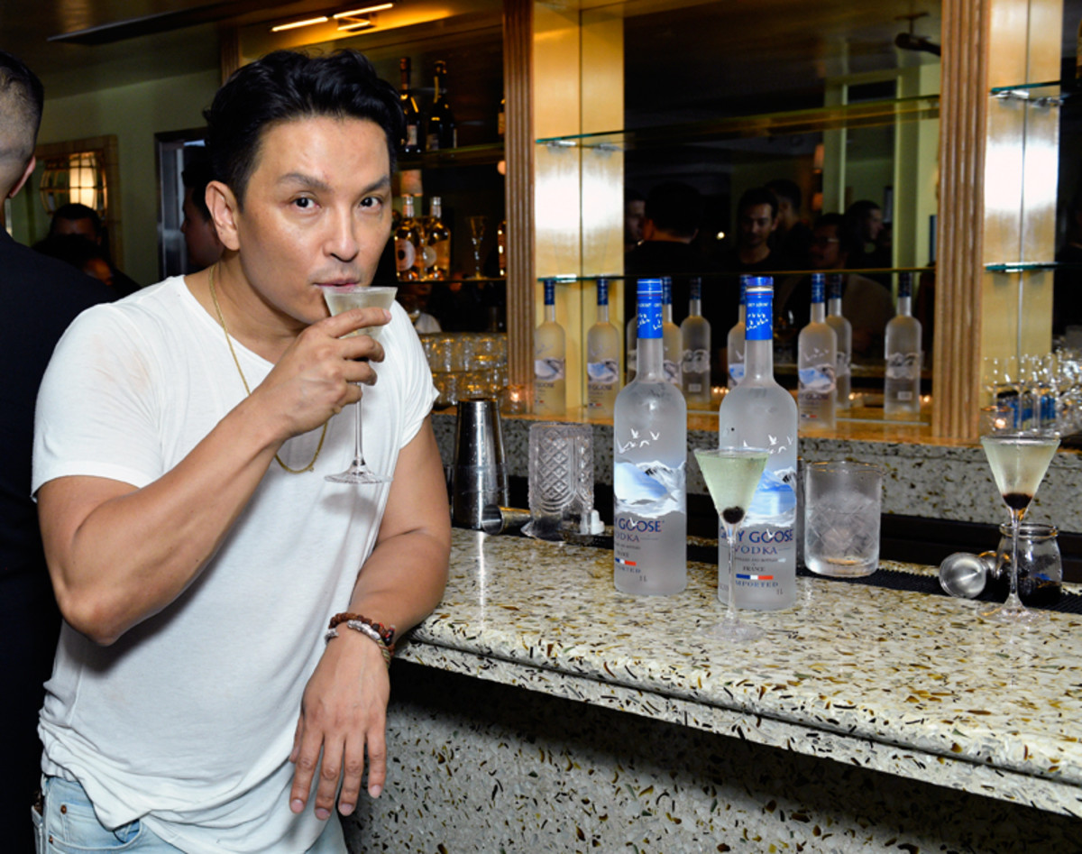 Prabal Gurung sips on a martini at his Spring 2022 collection private after-show dinner with GREY GOOSE vodka on September 8, 2021.