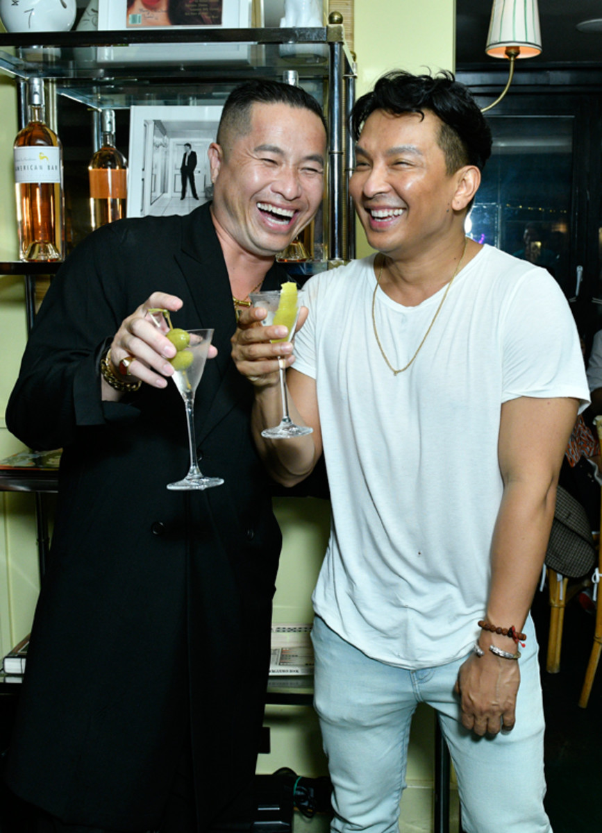 Phillip Lim and Prabal Gurungoast to Prabal's Spring 2022 collection at his private after-show dinner with Grey Goose vodka on September 8, 2021.