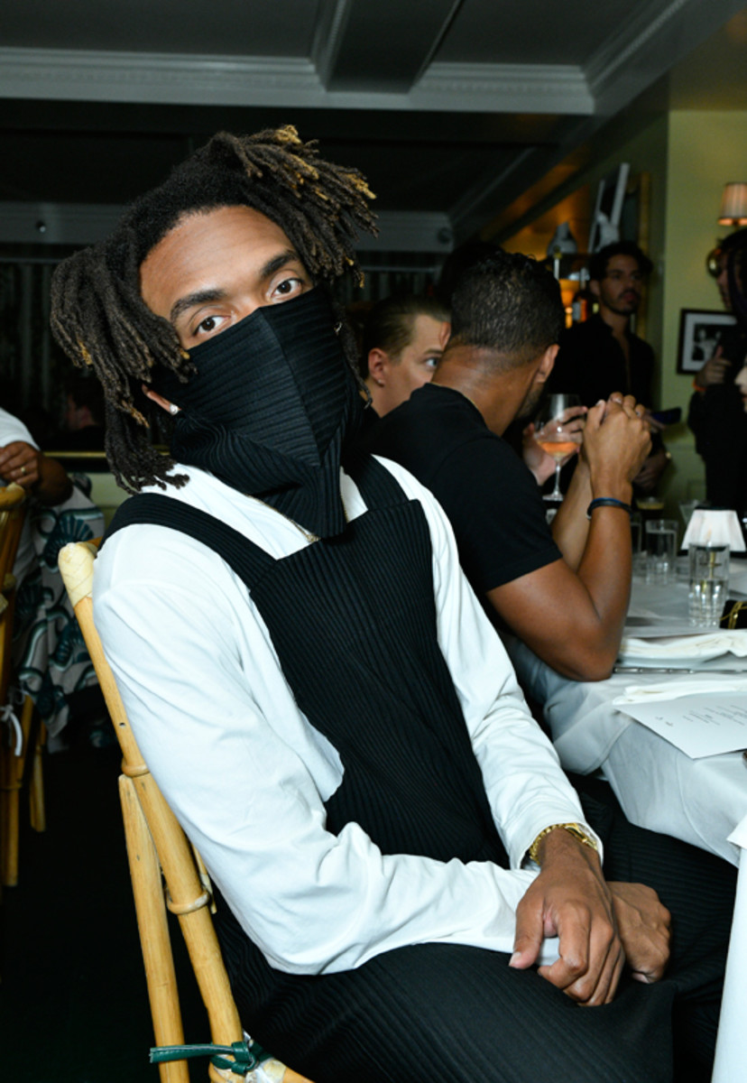 Kerby Jean-Raymond celebrates his friend Prabal Gurung's Spring 2022 collection at his private after-show dinner with Grey Goose vodka on September 8, 2021.