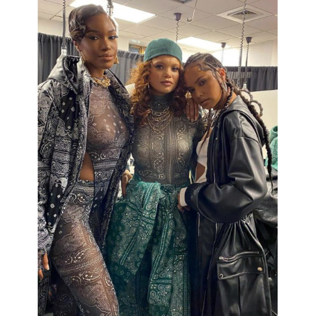 Backstage at the Pretty Little Thing x Teyana Taylor fashion show