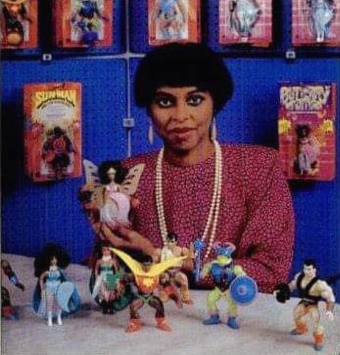 Yla Eason and Olmec Toys, including Sun-Man, the other Rulers of the Sun, and Butterfly Woman