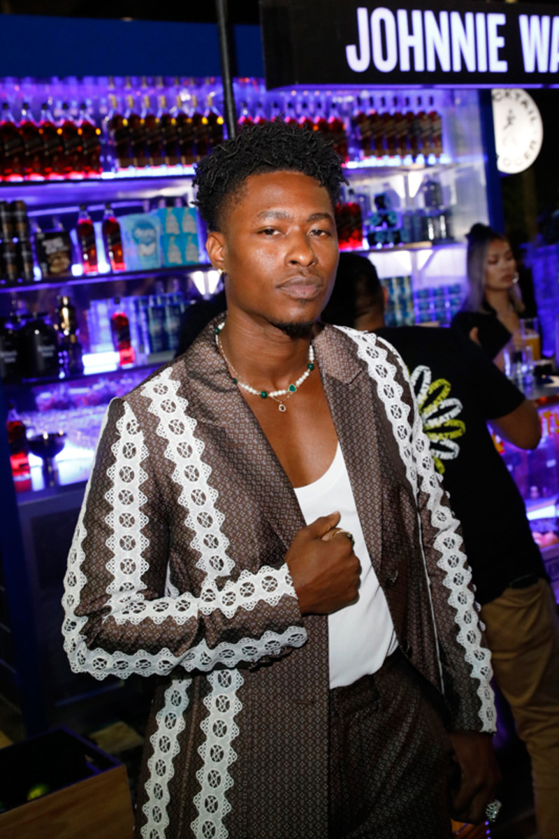 """Lucky Daye attends LaQuan Smith's """"Under the Bridge"""" Met Gala afterparty."""