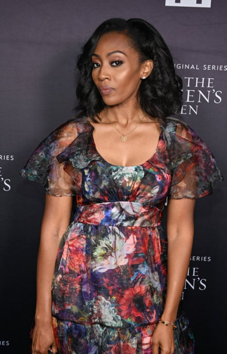 Racquel Palmer, who infamously put up a billboard to gain Tyler Perry's attention, attends the premiere screening for the new BET+ and Tyler Perry Studios scripted series All The Queen's Men on September 9, 2021 in Atlanta.