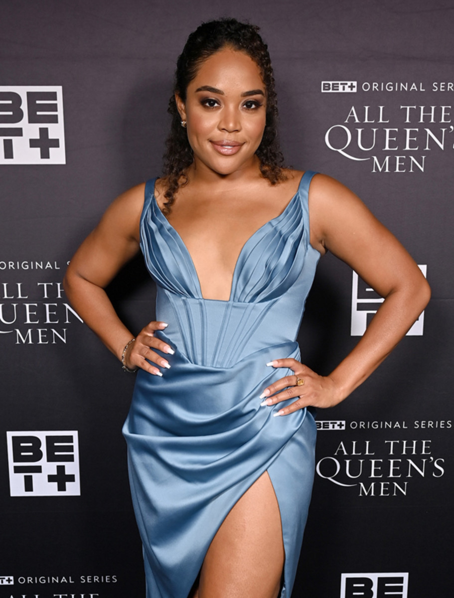 Candace Maxwell attends the premiere screening for the new BET+ and Tyler Perry Studios scripted series All The Queen's Men on September 9, 2021 in Atlanta.